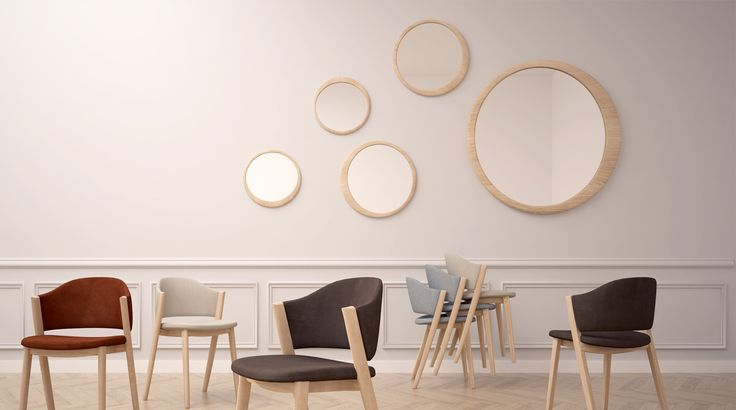 #Caravela chair e #Luna mirror from Wewood