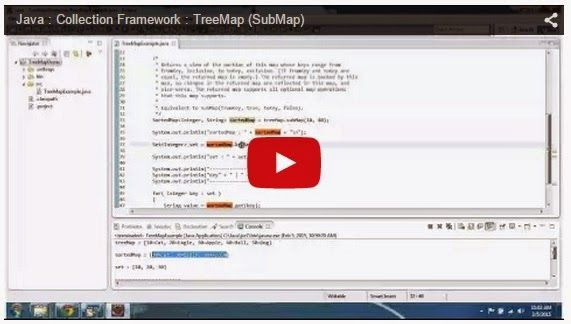 JAVA EE: Java : Collection Framework : TreeMap (SubMap)