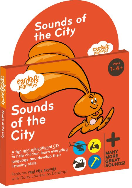 Eardrop's Journey: Sounds of the City, a half hour fun story for young children that features 30 real world sounds to learn. Featuring Simon McKinney as 'The Postie' and Daisy Lawless as 'Eardrop'