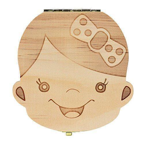 Oferta: 4.35€. Comprar Ofertas de Ularma Caja de almacenaje de madera guardar los dientes de leche para niños chica (Español) barato. ¡Mira las ofertas!