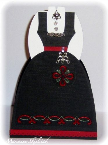 handcrafted card from Candice paper world .: A special confirmation card ... traditional Norwegian costume ...