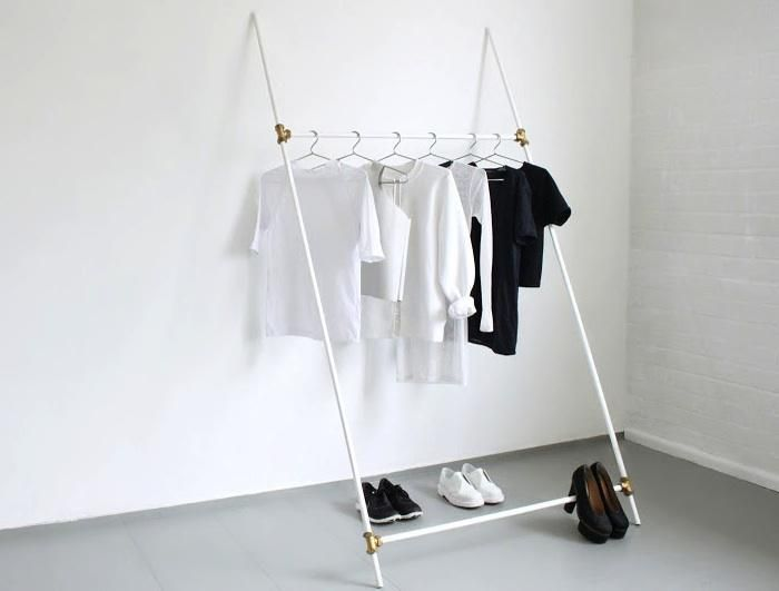 clothing racks made out of plumbing parts