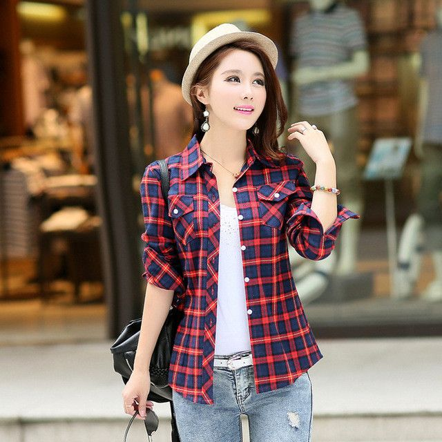 17 best ideas about plaid shirt women on pinterest for Shirt styles for ladies