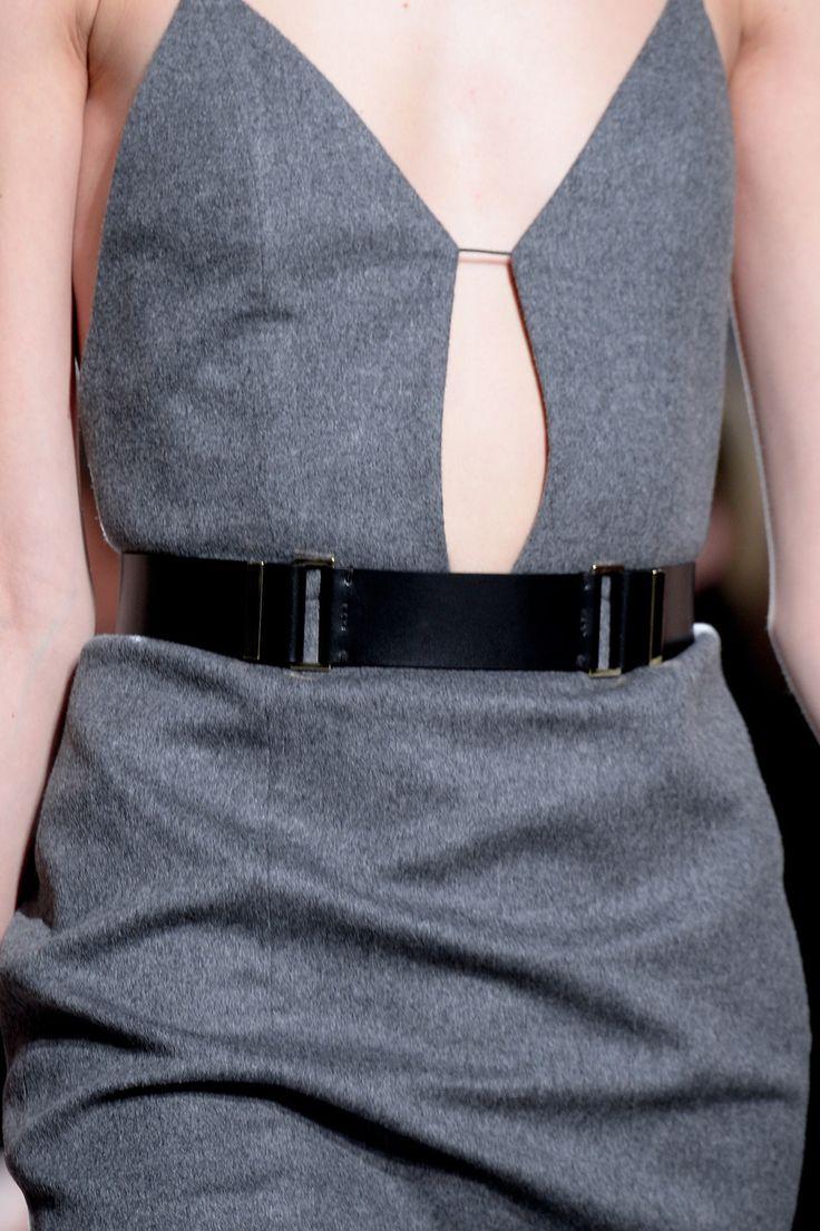 Grey Wool Dress - chic tailored fashion details // Boss Women fall 2014