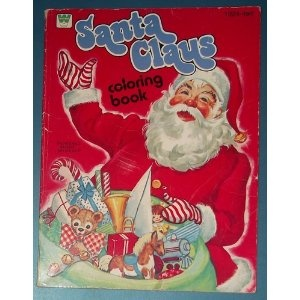 Santa Claus Coloring Book No 1024 Whitman Publishing Company 1964
