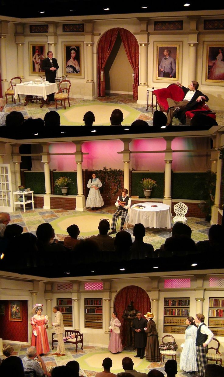 """The Importance of Being Earnest"" by Oscar Wilde. Set design by Bill Schreiner for The Walker School."