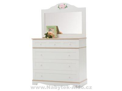 Dětská komoda se zrcadlem, toaletní stolek Laura