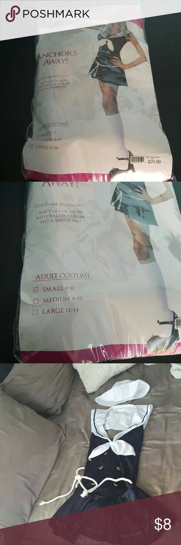 Sailor Halloween costume Never been worn except to try on and has all pieces in the bag spirit Other