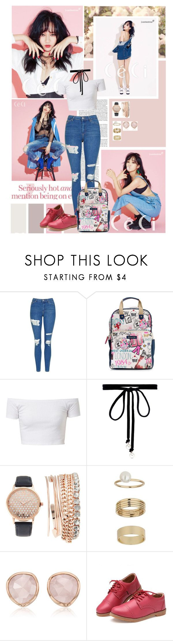 """""""Your love was made by hand for someone like me"""" by angiielf ❤ liked on Polyvore featuring Topshop, Accessorize, Joomi Lim, Jessica Carlyle, Miss Selfridge, Monica Vinader and Oxford"""
