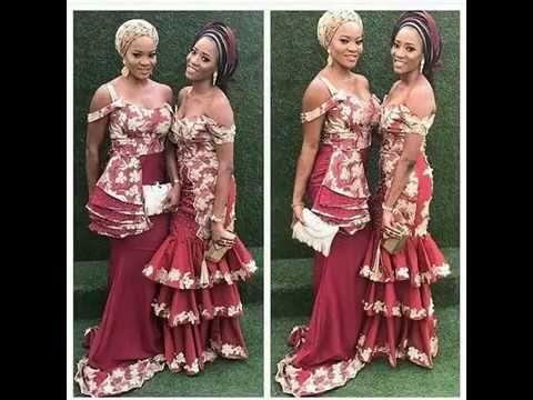 Designers Blouse, Gowns, Short Lace African Ankara Aso Ebi Dresses