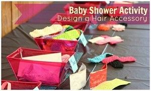 Build a Bow - Baby Shower Activity Kit. This kits includes 20+ headbands, 30+ flowers, and at least a dozen other embellishments for $50. Perfect girl baby shower activity or a fun kit for a crafty mama!