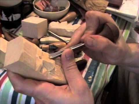 how to; wood carving a face basics beginner carve