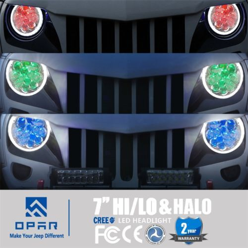 7-034-Bluetooth-APP-RGB-Halo-LED-Angel-Eyes-Headlight-for-Jeep-Wrangler-JK-TJ-97-17