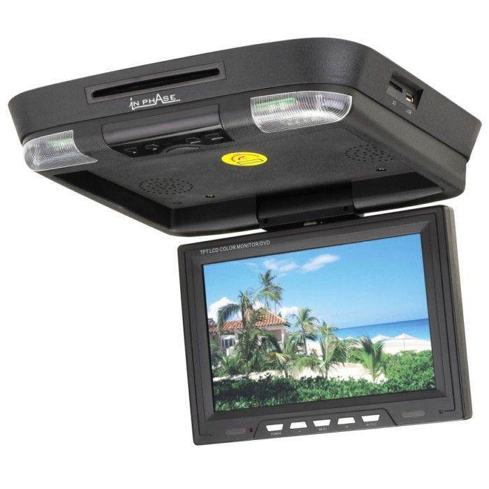 In Phase IVR11 Roof Mount DVD entertainment system, USB/SD card reader built in - Car Audio Centre