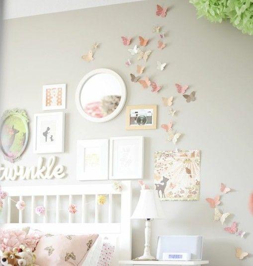 Teenager Zimmer Mädchen Schmetterlinge Wand Deko Kinderzimmer