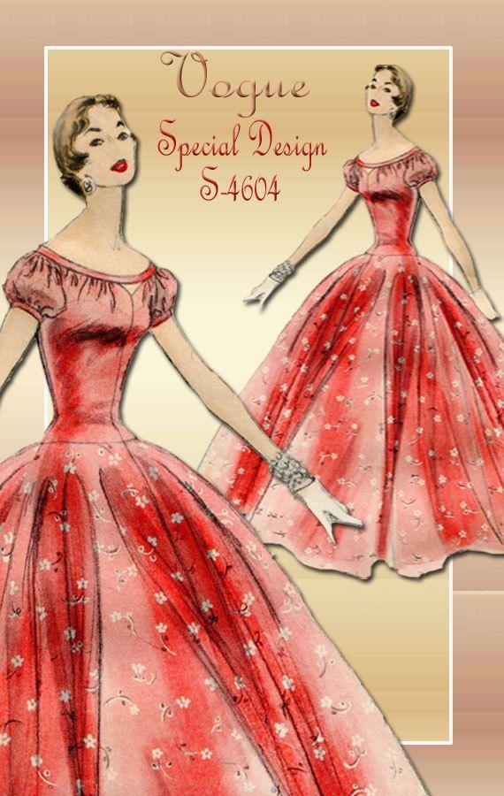 1950s Dress Pattern Vogue Special Design S by FloradoraPresents, $43.00