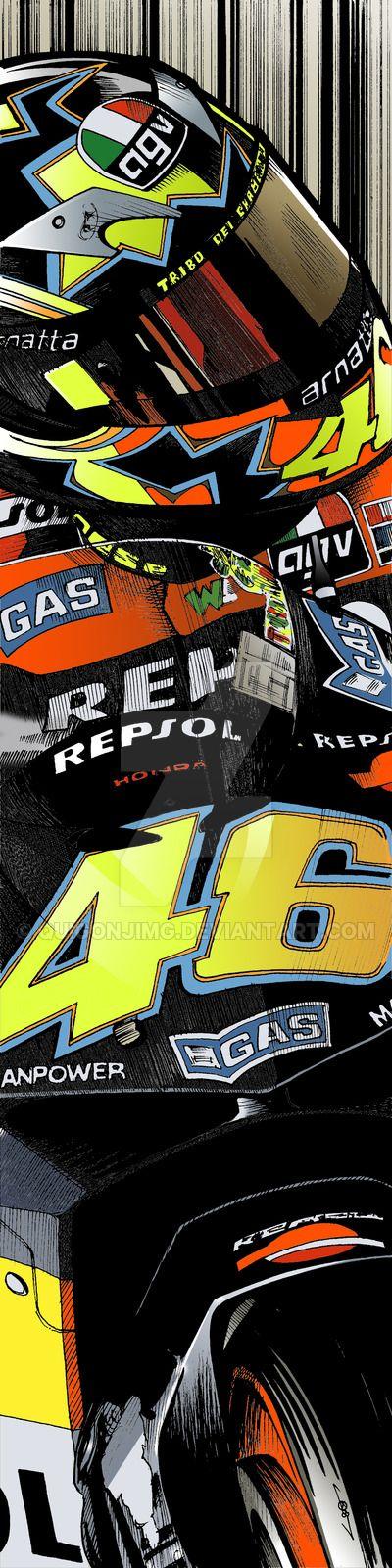 Valentino Rossi - Repsol Honda by quigonjimg.deviantart.com on @DeviantArt