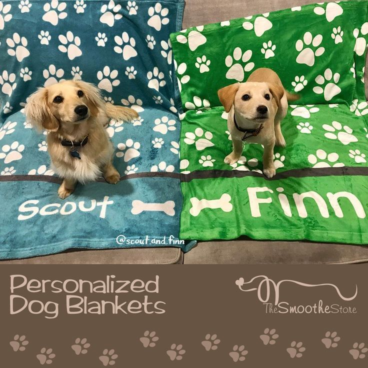 Personalized paw print dog blanket for your puppy. Great gift for barkdays and dog lovers, including as dog memorial gift.