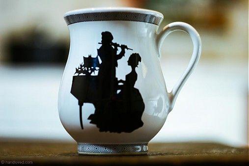 Cup for coffee or tea Art Nouveau/ šálka na kávu alebo čaj v secesnom dekore
