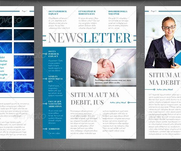 Printed Newsletter Templates Free Fresh Best Newsletter Design For