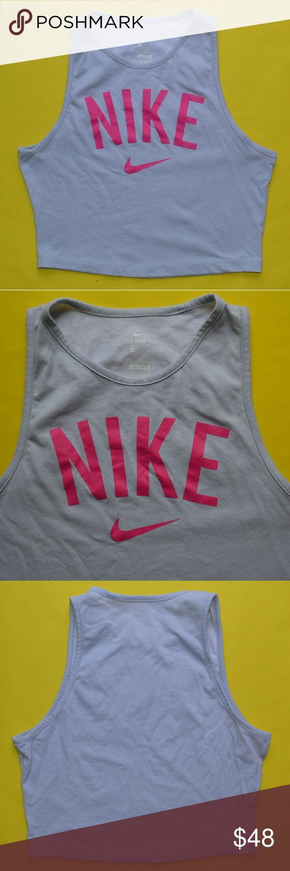 Brand New Nike Swoosh Logo Grey and Pink Crop Top Gorgeous grey and pink crop tank top from Nike. Super rare and 100% authentic shirt. I never wore this. Size small. Nike Tops Crop Tops