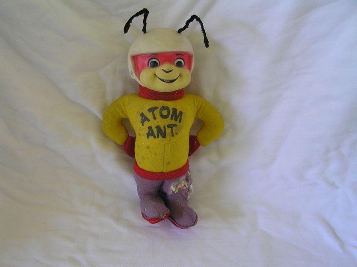 "Rushton ATOM ANT 1960s Hannah Barbera 11"" Atlanta, GA Rubber Face Stuffed Plush    eBay"