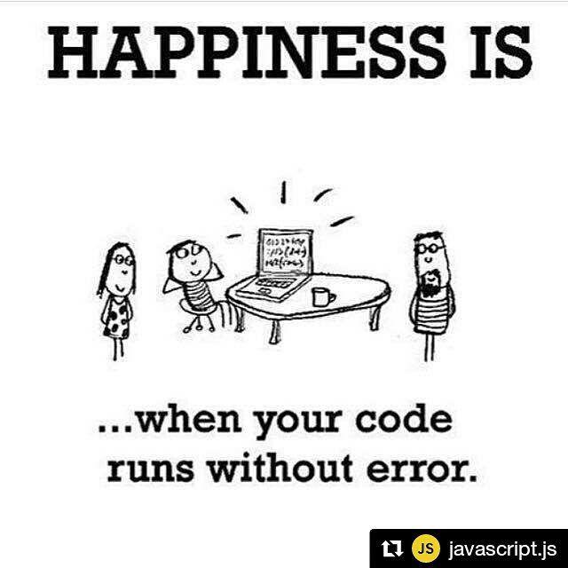 (-)/ #Repost @javascript.js with @repostapp  Happiness is  #javascript #angularjs #reactjs #webdevelopment #webdeveloper #webdesign #webdesigner #html #html5 #bootstrap #application #app #development #programming #css #css3 #js #jquery #php #nodejs #ruby #java #android #laravel #mongodb #nosql #mysql #postgresql #software