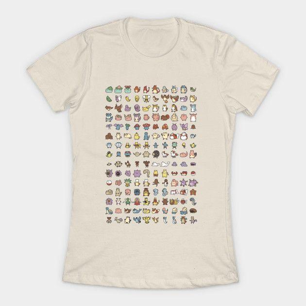 Chibi Pokémon Chart - Pokemon - T-Shirt | TeePublic