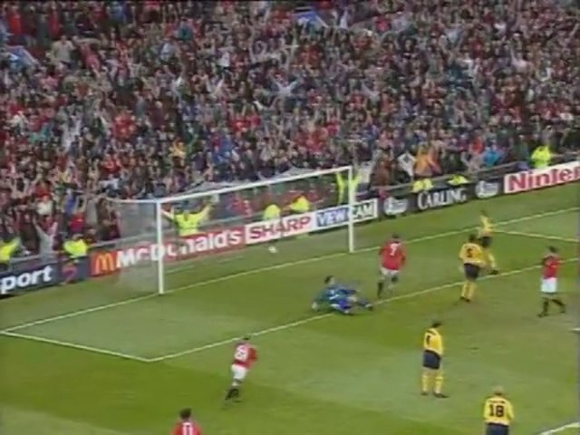 Video of the day: April 28 1996, Manchester United 5 - 0 Nottingham Forest (Beckham 2, Cantona, Giggs, Scholes). United win to stay ahead of Newcastle at the top of the table.