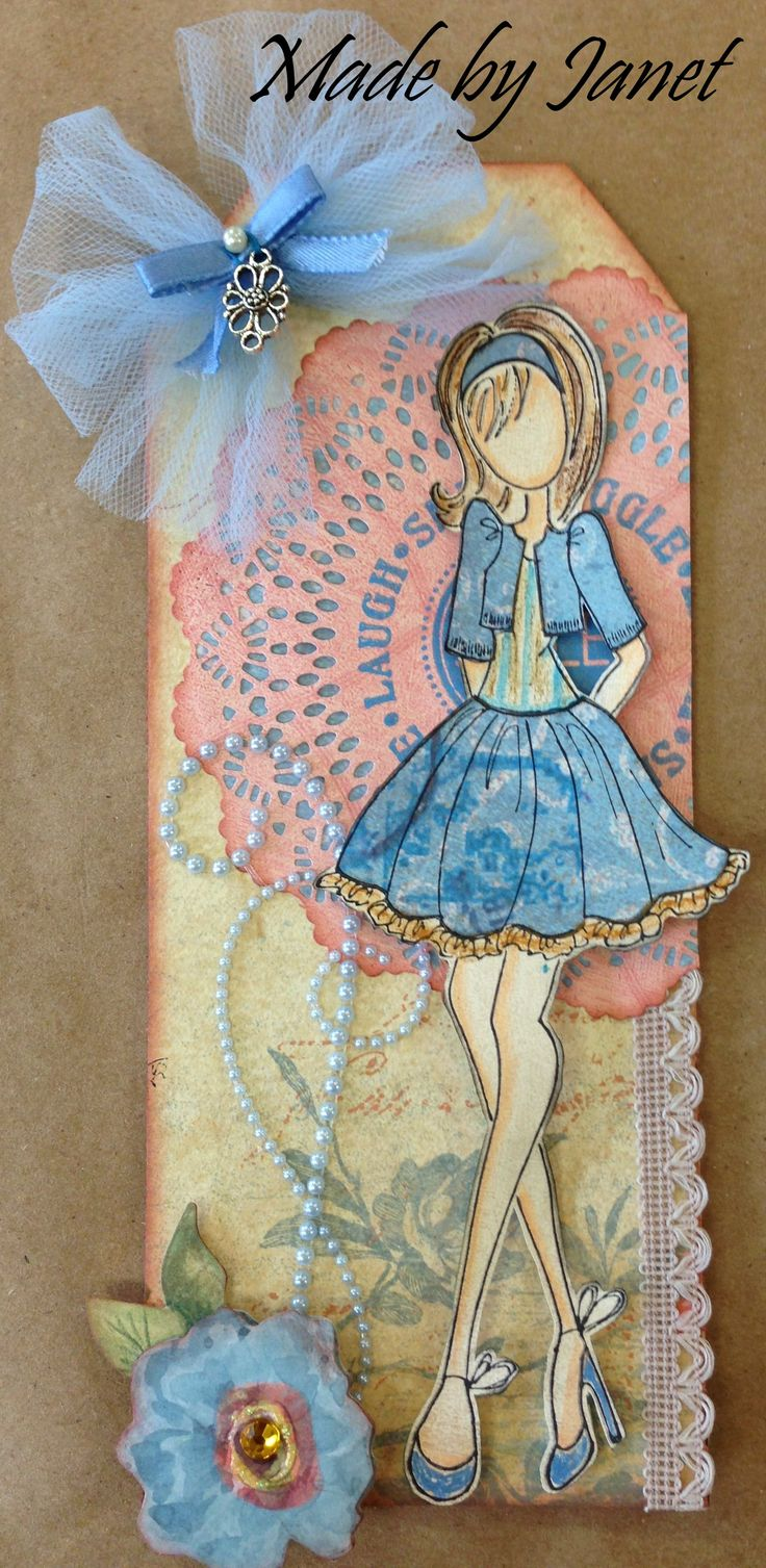 Full of laughs and giggles pinned by pinner.   Wendy Schultz - Prima Doll Stamps.