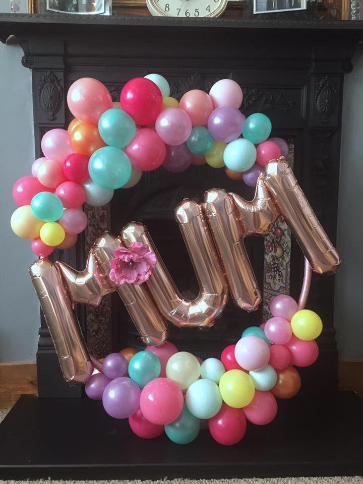 Organic Balloon hoop decoration