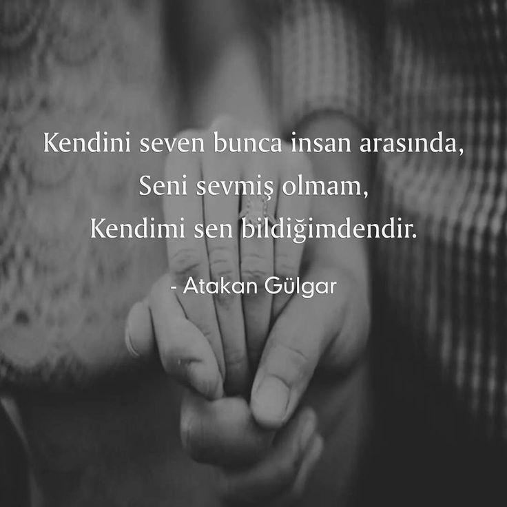Kendini seven bunca insan arasında, Seni sevmiş olmam, Kendimi sen bildiğimdendir.  - Atakan Gülgar  (Kaynak: Instagram - askbaz)  #sözler #anlamlısözler #güzelsözler #manalısözler #özlüsözler #alıntı #alıntılar #alıntıdır #alıntısözler #şiir #edebiyat