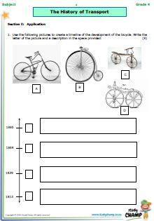 Tests - Grade 4 - Social Science : Grade 4 History Test: Transport
