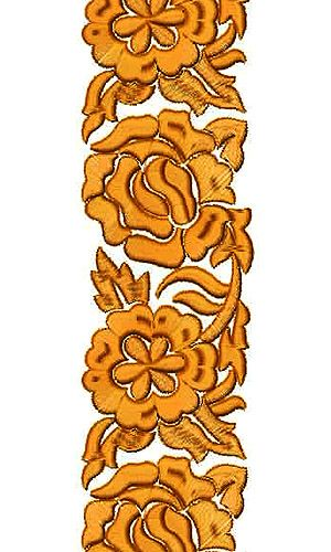Anarkali Dress Embroidery Lace Design