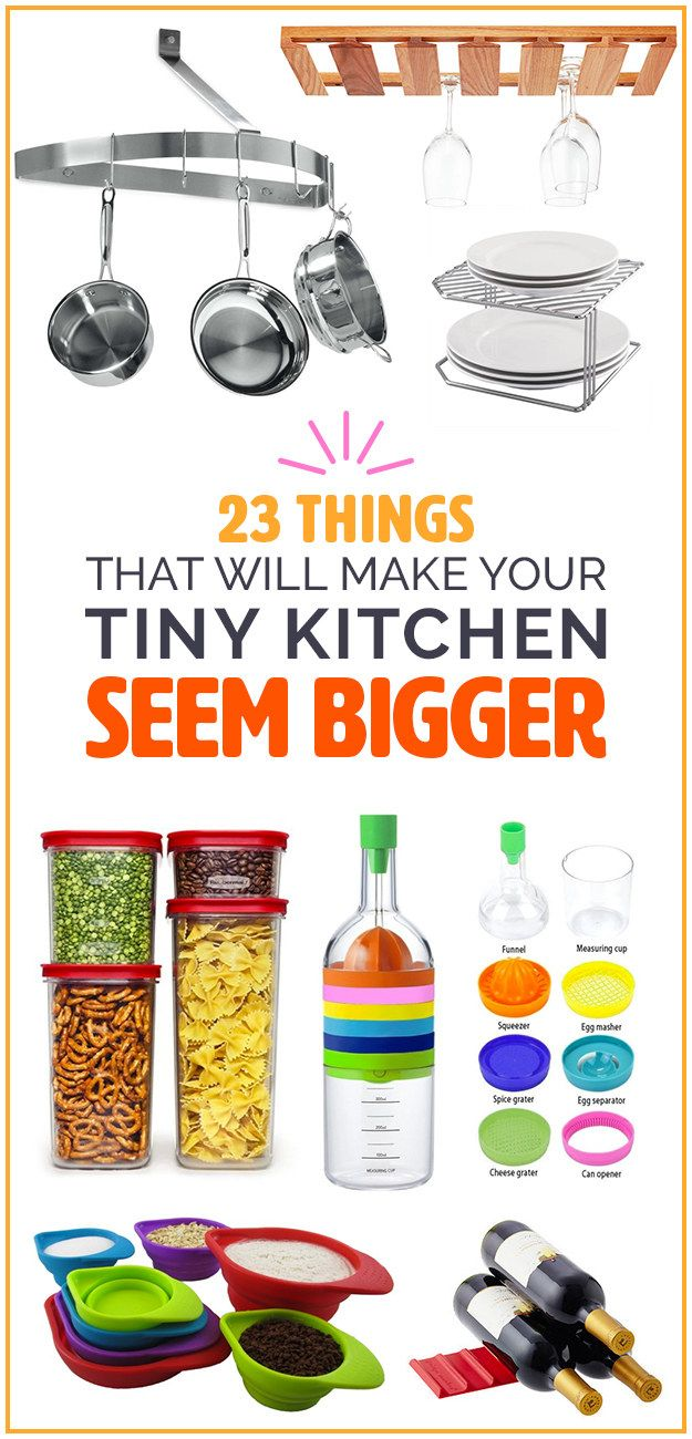Products and ideas to help you eat big in a small space.