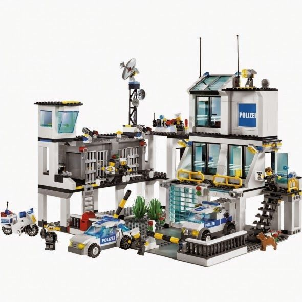 Lego City Police HQ - a cool Lego set that inspires lots of active play long after it's been built.  How can you have a Lego City without some law and order around?