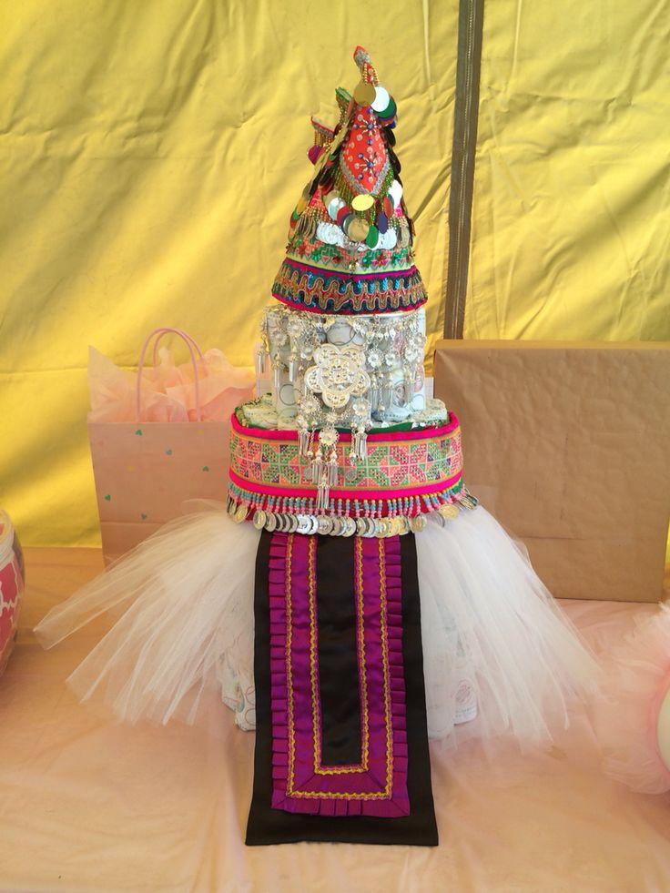 Hmong inspired diaper cake.