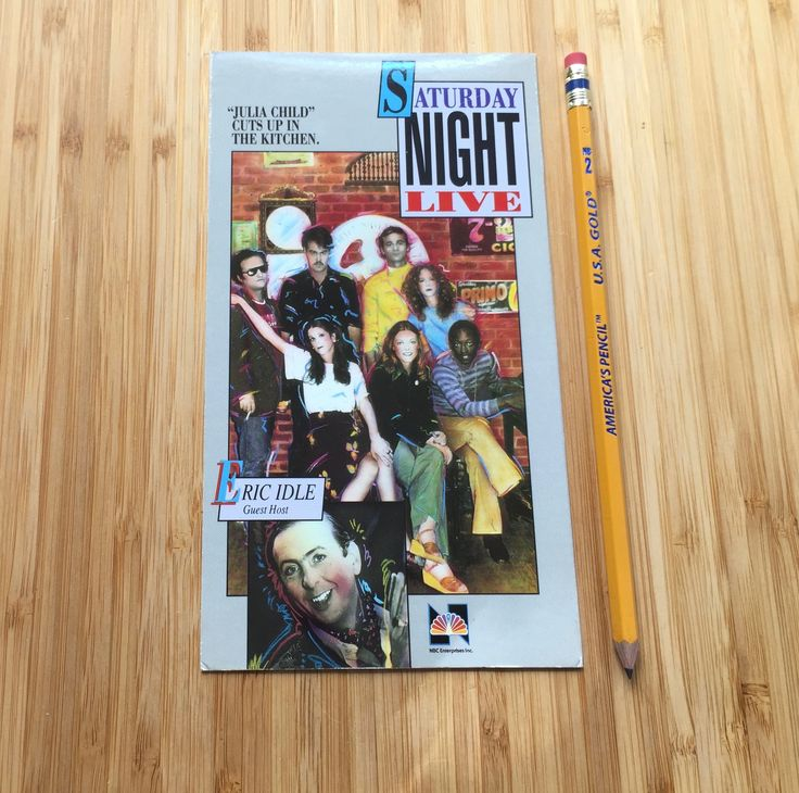 Saturday Night Live VHS Cover Notebook, Upcycled Vintage Movie Journal, Repurposed Book, Unique Gift, Stocking Stuffer, Eric Idle, SNL Show by LooseChangeMerc on Etsy