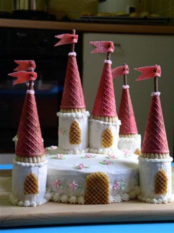 Gâteau château de princesse + photos