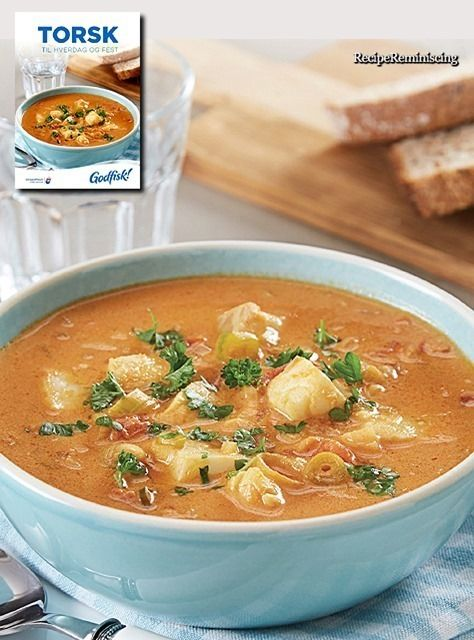 Fish Soup with Cod and Tomatoes / Fiskesuppe med Torsk og Tomater