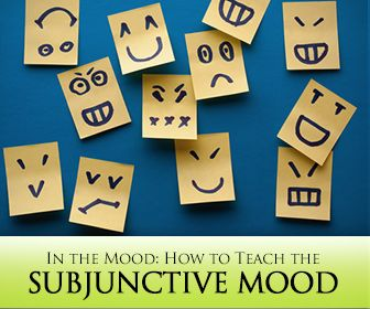 Not in the mood to teach the subjunctive mood? The subjunctive is used when expressing a command, a suggestion or a wish. Although this is not exclusively so, the subjunctive is most often u