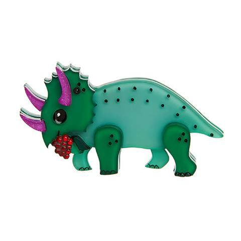 """Erstwilder Limited Edition Cera Grown Up Brooch. """"It would appear our Cera has come into her own. Still fearless, adult Cera has become quite partial to her berry diet."""""""