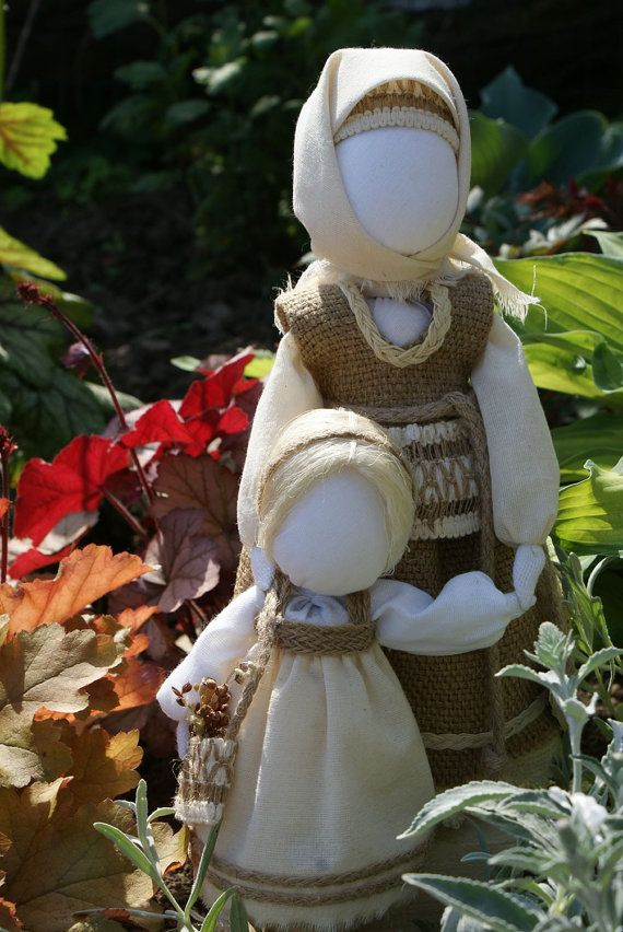 Ukrainian dolls: Mother and Doughter by GrainField on Etsy