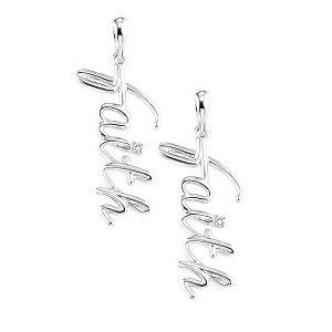 Diamond Jewellers :: Silver Diamond Earring