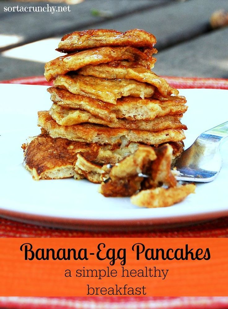So simple! These flourless banana egg pancakes are a fast and healthy breakfast.