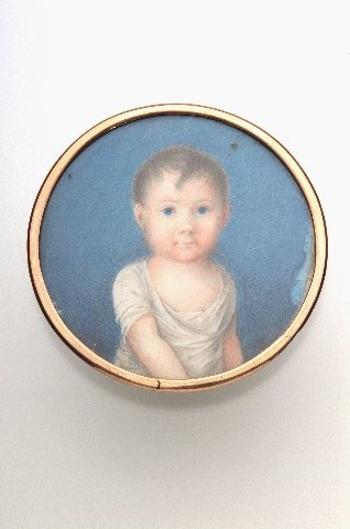 Miniature portrait of Prince Gustav of Vasa. Born the Crown-Prince of Sweden he lost his place in the succession when his father Gustavus Adolphus IV was deposed by the Swedish aristocracy. Courtesy of the National Museum of Finland.