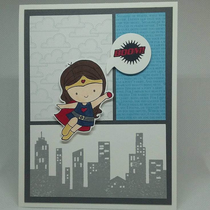 Excited to share the latest addition to my #etsy shop: Super Girl Card http://etsy.me/2FcS2Nh #birthdaycard #cutecrystalcreations #superherocard #supergirlcard #supermomcard