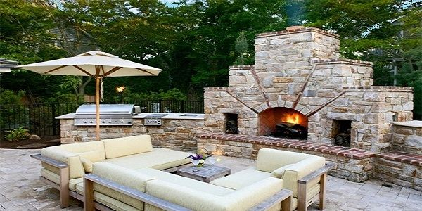 Cool Vintage Outdoor Fireplace Design