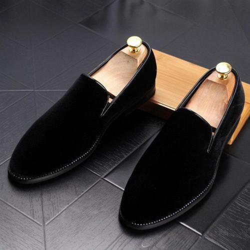 Vogue-Men-039-s-Velvet-Loafers-Dress-Formal-Business-Slip-On-Shoes-Casual -Ankle-boot bdf5bbce3266