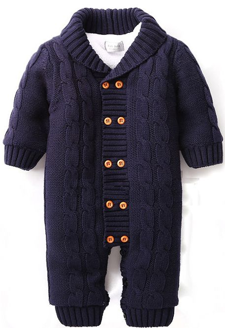 Baby cotton one-piece suit meninos roupas de bebe long sleeve romper baby infant winter warm hoody jumpsuit coverall for newborn